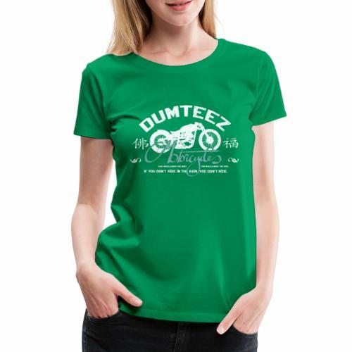 Dum Bike White - Vrouwen Premium T-shirt