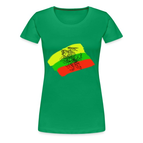 Lithuanian flag with rider - Women's Premium T-Shirt