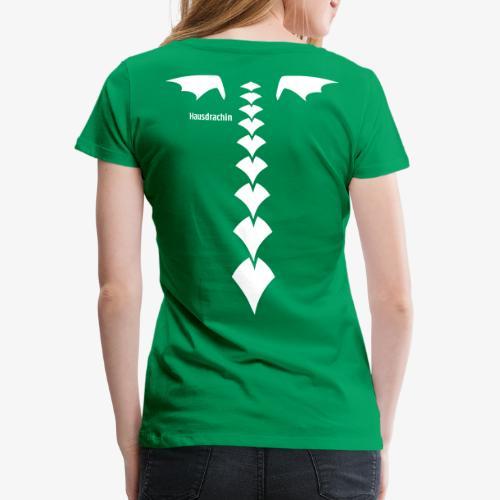 Hausdrachin Rücken - Frauen Premium T-Shirt