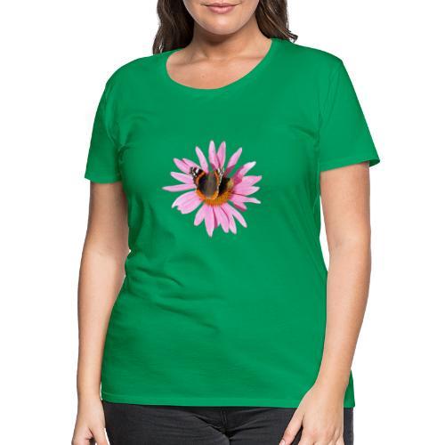 TIAN GREEN Garten - Sonnenhut Schmetterling - Frauen Premium T-Shirt