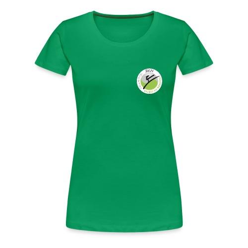 logo rund weiss mit rand - Frauen Premium T-Shirt