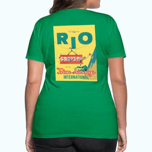 Brasilien Vintage Reise Poster - Women's Premium T-Shirt