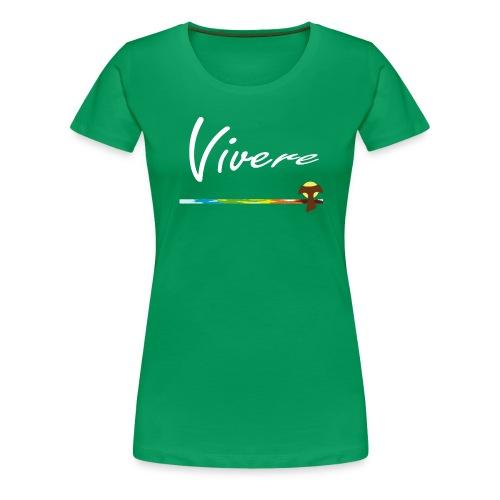Vivere Font Logo - Frauen Premium T-Shirt