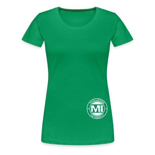 Logo Rund White - Frauen Premium T-Shirt