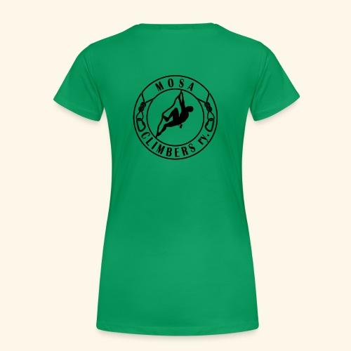 Mosa climbers black - Naisten premium t-paita