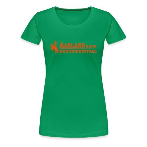 akf logo med dato - Premium T-skjorte for kvinner