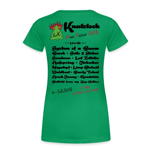 Knutstock LineUp2 - Frauen Premium T-Shirt