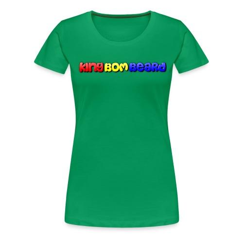 KingBomBeard Text png - Women's Premium T-Shirt