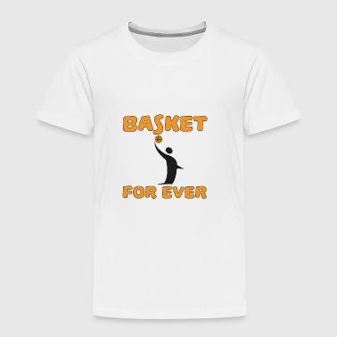 Basket for ever - Premium T-skjorte for barn