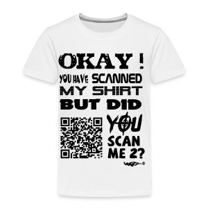 QR shirt for nosy people - Kinderen Premium T-shirt