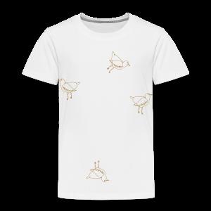 Vier Vögel - Kinder Premium T-Shirt