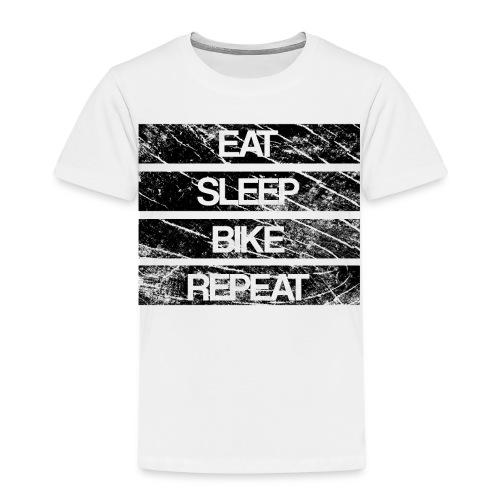 eat sleep bike repeat Used look - Kinder Premium T-Shirt