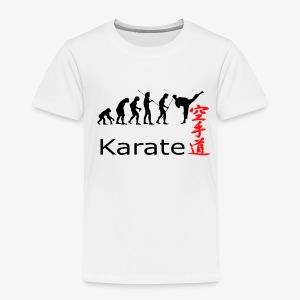 Karate Silhouette - Kinder Premium T-Shirt