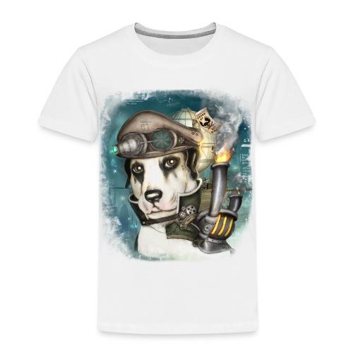 Steampunk Dog #2b - Maglietta Premium per bambini