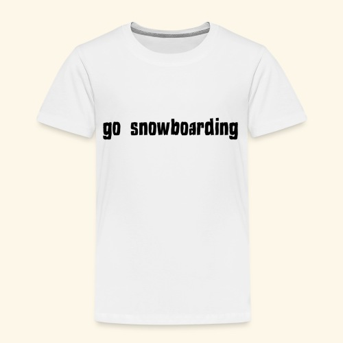 go snowboarding t-shirt geschenk idee - Kinder Premium T-Shirt
