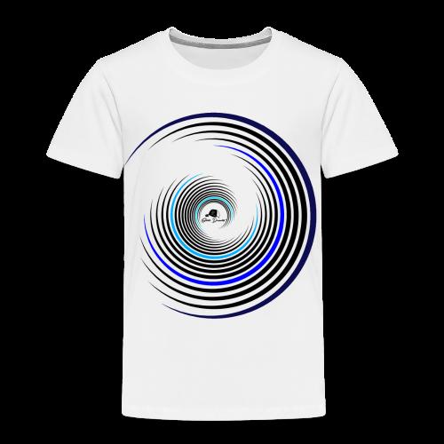 Kreise schwarz / blau - Kinder Premium T-Shirt