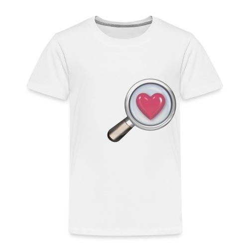 Herz mit Lupe - Kinder Premium T-Shirt