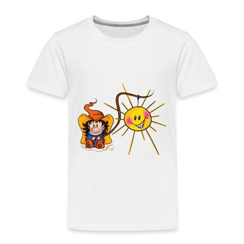 Sonne geangelt - Kinder Premium T-Shirt