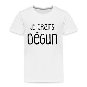 Humour Citation Marseille JE CRAINS DEGUN  - T-shirt Premium Enfant