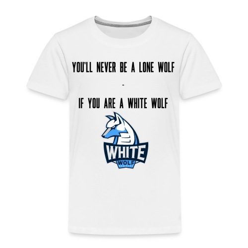 White Wolf Text - Kinder Premium T-Shirt