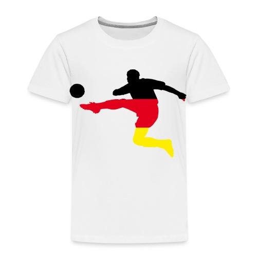 Fußball Bundesliga Deutschland Fahne Spieler Sport - Kinder Premium T-Shirt