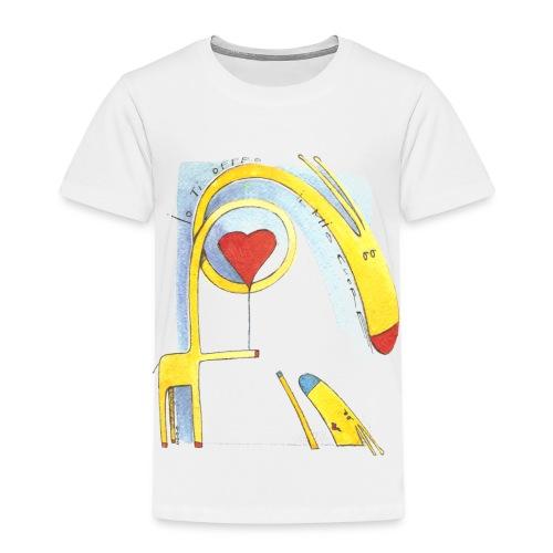Giraffa innamorata - Maglietta Premium per bambini