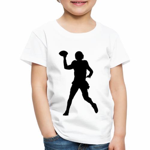 American Football Silhouette schwarz - Kinder Premium T-Shirt