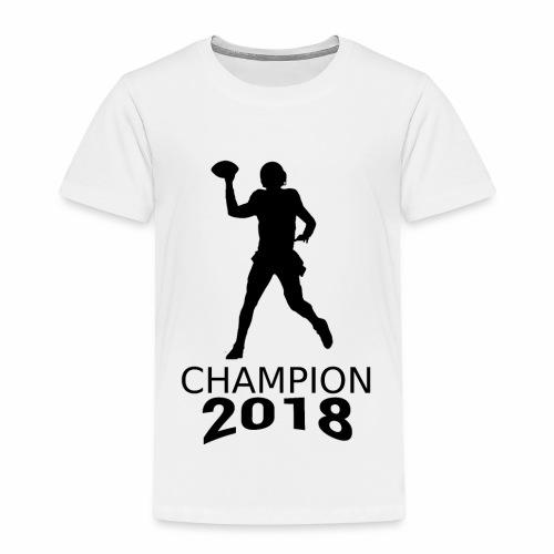 American Football Champion 2018 schwarz Spieler - Kinder Premium T-Shirt