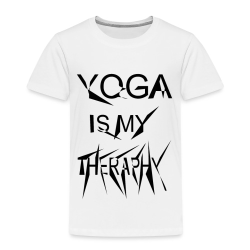 Yoga is my theraphy - Kinder Premium T-Shirt