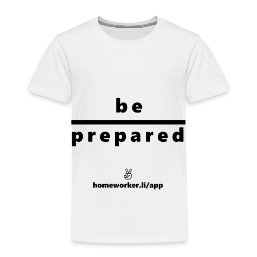 be prepared (schwarz) - Kinder Premium T-Shirt