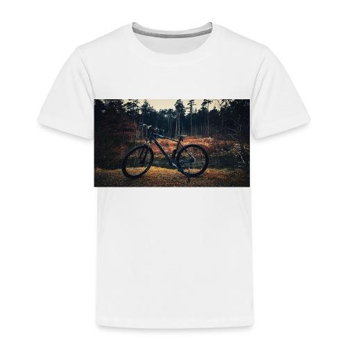 Fahrad am fluss - Kinder Premium T-Shirt