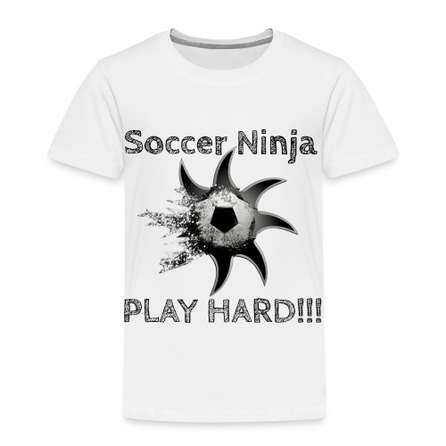 Soccer Ninja, Fussball, Play Hard - Kinder Premium T-Shirt
