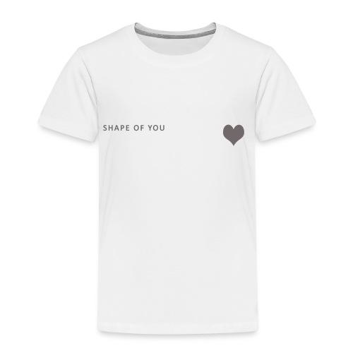 shapeofyou herz spreadshirt - Kinder Premium T-Shirt