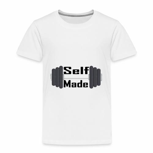 Self Made Black Text - Kids' Premium T-Shirt