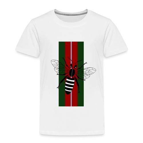 Biene über Streifen Grün Rot Blau - Kinder Premium T-Shirt