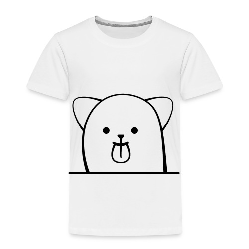 Cartoon Katze streckt frech die Zunge - Kinder Premium T-Shirt