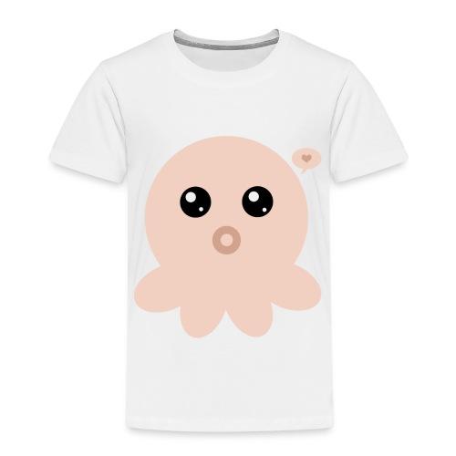 Poulpe Kawaii Orange - T-shirt Premium Enfant