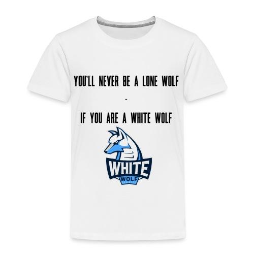 White Wolf Text - Kinder Premium T-Shirt