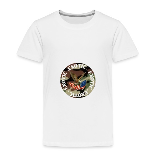 EXOTIC logo and circle - Kids' Premium T-Shirt