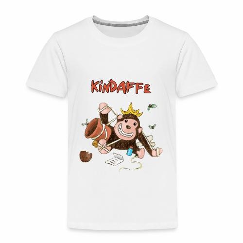 Kindaffe bleibt kleben - Kinder Premium T-Shirt