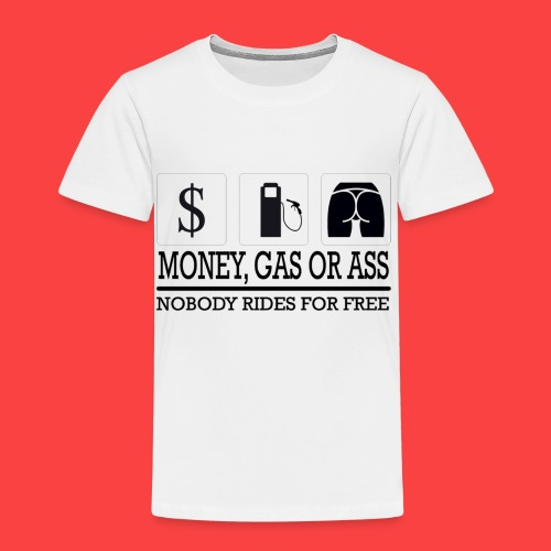 MONEY-GAS-OR-ASS - Camiseta premium niño