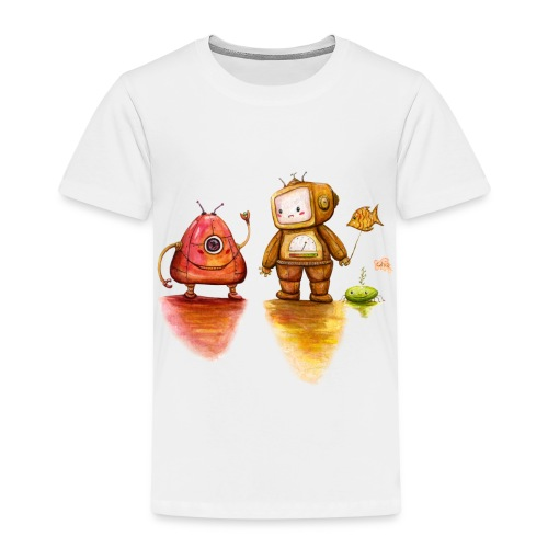 Robot Private Conversation - Kinderen Premium T-shirt