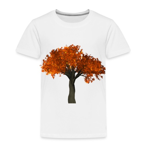 Roter Laubbaum - Kinder Premium T-Shirt