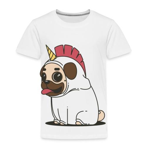 Mops Einhorn - Kinder Premium T-Shirt