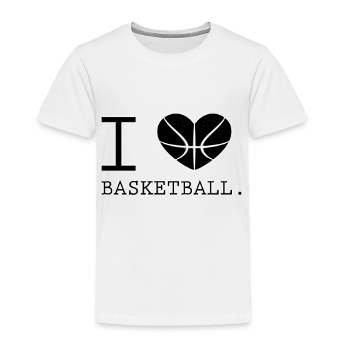 I love Basketball-Shirt T-Shirt Geschenk - Kinder Premium T-Shirt