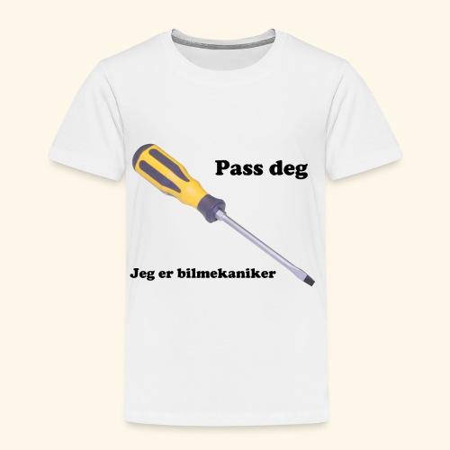 Pass deg jeg er bilmekaniker - Premium T-skjorte for barn