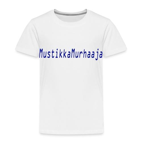 mustin tuotteet - Lasten premium t-paita