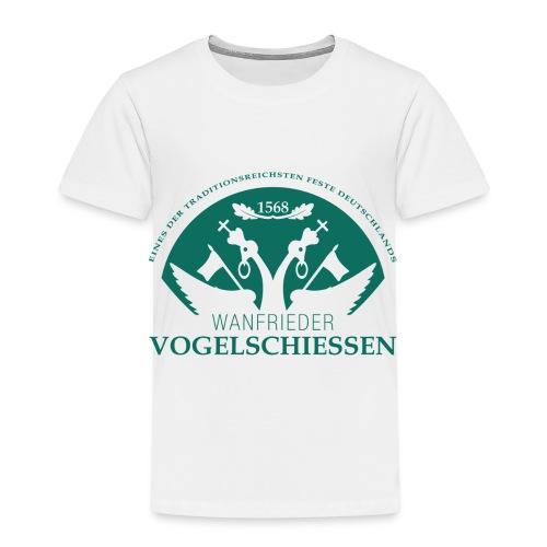 Logo Wanfrieder Vogelschiessen Einfarbig - Kinder Premium T-Shirt