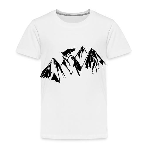 Berg und Ziege Geschenk Geschenkidee - Kinder Premium T-Shirt