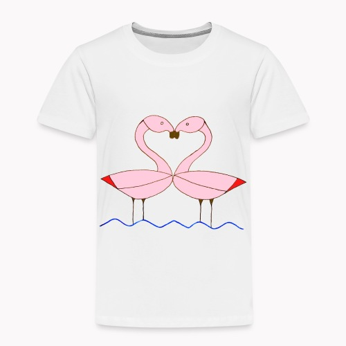 2 flamants roses - T-shirt Premium Enfant